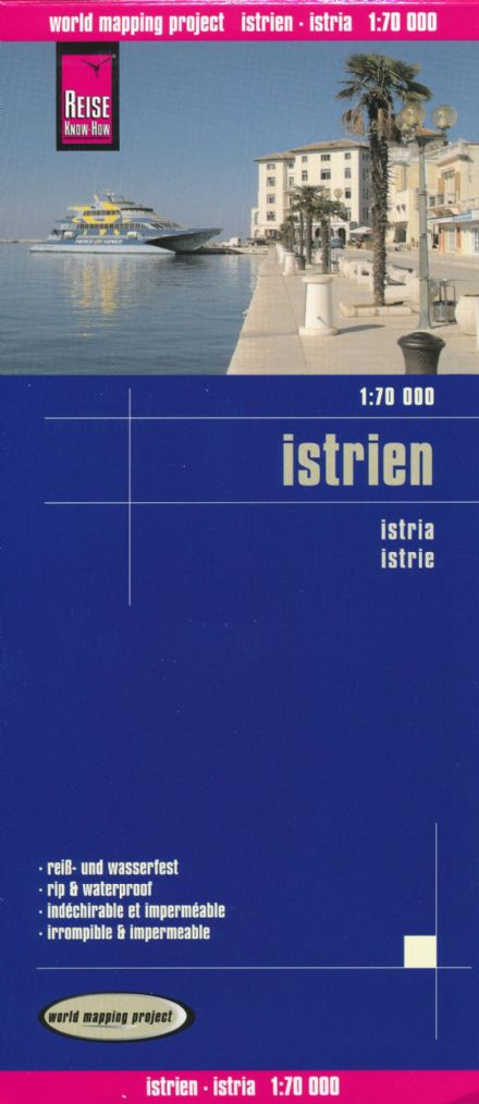 Istria - Reise Waterproof Map 1:70,000